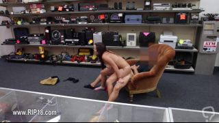 Big ass brunette nailed in the pawnshop