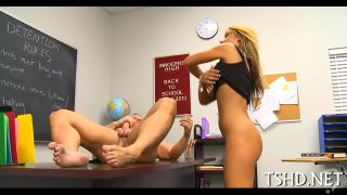 Blonde Horny School Girl Take A Mature Dick
