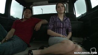Brunette Getting In Bang Bus