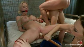 Watch Horny Couple Having Fun With Two Blonde Milfs