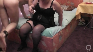 Mature Mistress Facesitting her Slave