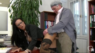 Hardcore sex with the dirty secretary