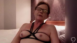 Horny Mature tied in a chair and vibed to orgasm