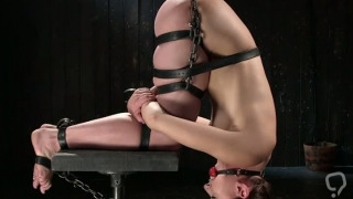 Exposed ass bondage and ass whipping