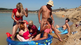 Outdoor sex party with kinky sluts