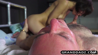 Step daddy fucks his perfect skinny daughter in her bedroom