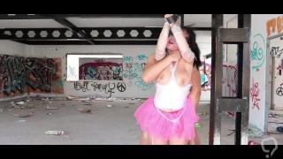 Masked goon savagely fucks little ballerina