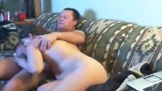 Dad and Mom having fun