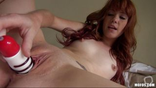 Hot Redhead Shows Off Her Kitty And Makes It Purr!