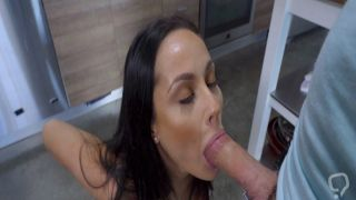 Brunette stepmom munch stepsons young cock