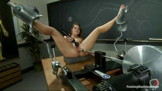 Slutty Chick Fucking Her Pussy On A Desk At School