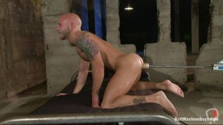 Bald Gay Guy Finds Out What This Butt Machine Does