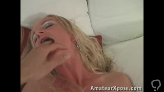 Sexy blonde, Crystal Carrera, doing her first video audition.