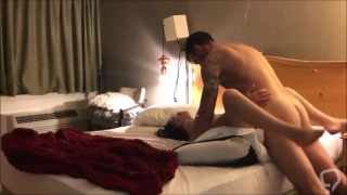 Hot amateur babe with wet pussy fucked in a motel