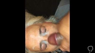 Huge Facial for Cougar