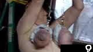 Vintagehusband makes wife Hang by tits then smacks them KOLI