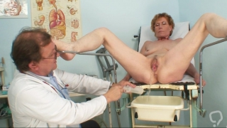 Old lady goes to the gyno