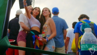 Teens at music festival
