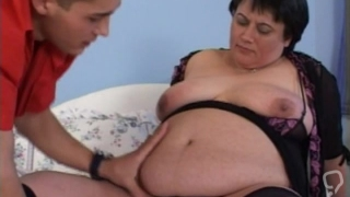 Tasty cock for fatty mature