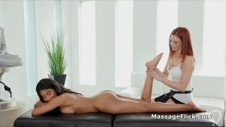 Post workout interracial lesbian 69 massage