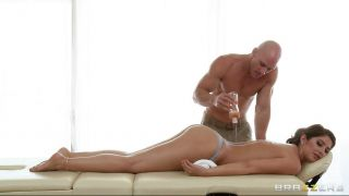 Hot Brunette Receiving A Massage