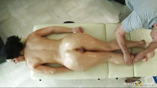 Sexy Brunette Getting Horny At A Massage