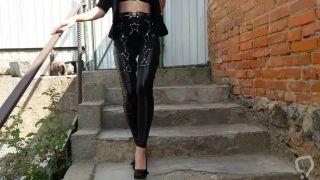 leather harness leggings