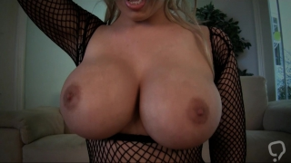 Cock riding blonde in full action