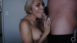 Stunning Busty Shemale Giving Great Head To A Lucky Guy