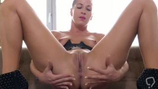 Nasty czech chick stretches her soft honey pot to the extreme