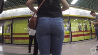 Candid tight jeans