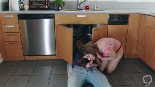 College teen Ariel gets her pussy banged hard by hunk dude