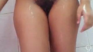 Rita Alchi My shower and Hairy pussy