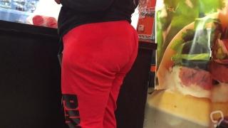 Ebony BBW Big Red Booty