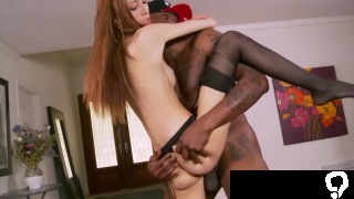 Slender Redhead Jenna Justine Bends over for an Anal Creampie from BBC