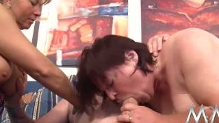 Petra Wegat and redhead granny love hard pounding