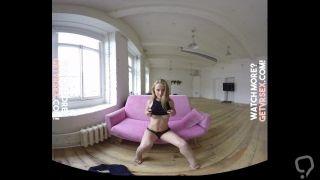 Fit Blonde Babe VR StripTease - Best Virtual Reality POV