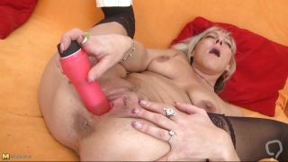 Slutty Mature Stuffing Her Pussy With A Big Dildo
