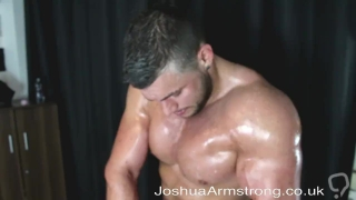 Oil muscle and cum
