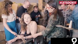LETSDOEIT - Big Boobs Girl Bound Hard and Given Multi Orgasms
