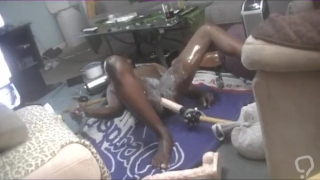 DOGGY STYLE FUCKING MASSIVE DILDO TIL CUM