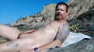 Beach Hard and Masturbating