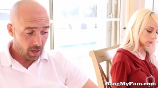 Family Thanksgiving Fuck For Dirty Father-In-Law & step Daughter