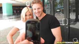 Sexy Blonde Hunted Down By Horny Guy!