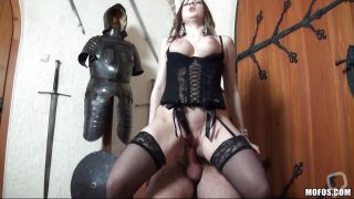 Sweet Brunette Being Hard Fucked From Her Back