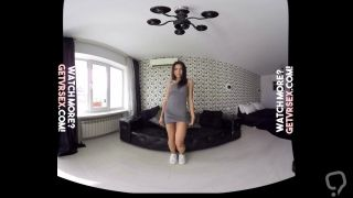HTC Vive VR - Stunning Brunette Babe Does A Striptease for You!