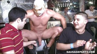 Luchador Stripper Getting His Dick Sucked