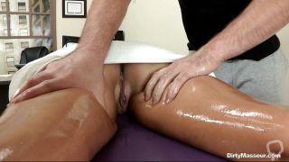 Hot Brunette Gets Hot Ass Massage