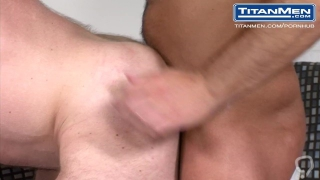 Audition: Liam Knox & Dirk Caber: Hairy muscle studs filp fuck