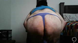 One of my blue thongs